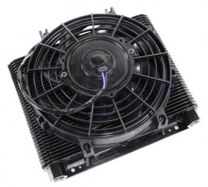 Competition Oil cooler & fan kit 72 plate cooler w/ fan