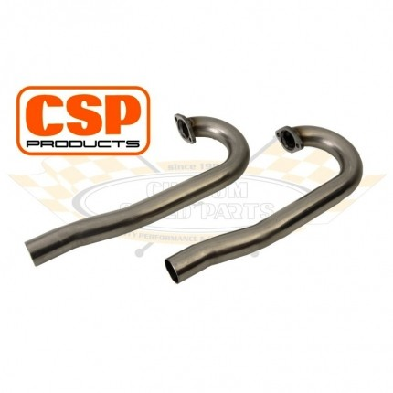 CSP Stainless Steel J Pipes, 38mm (PAIR)