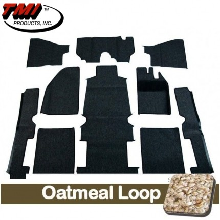 TMI Carpet Kit 10pc Bug 54-57 RHD W/O Footrest OATMEAL Premium Loop with binding