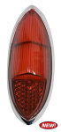 Tail Light Lens w/ Chrome Ring, Ghia 60-69, 100% Red, Each