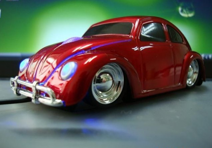 Beetle Computer Mouse MAROON
