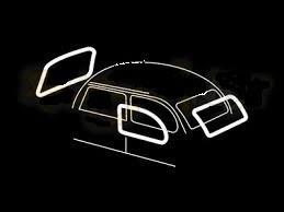 VW Beetle WHITE Cal Rubber kit 55-58