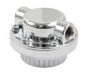 Chrome Fuel Pressure Regulator w/Chrome Bracket
