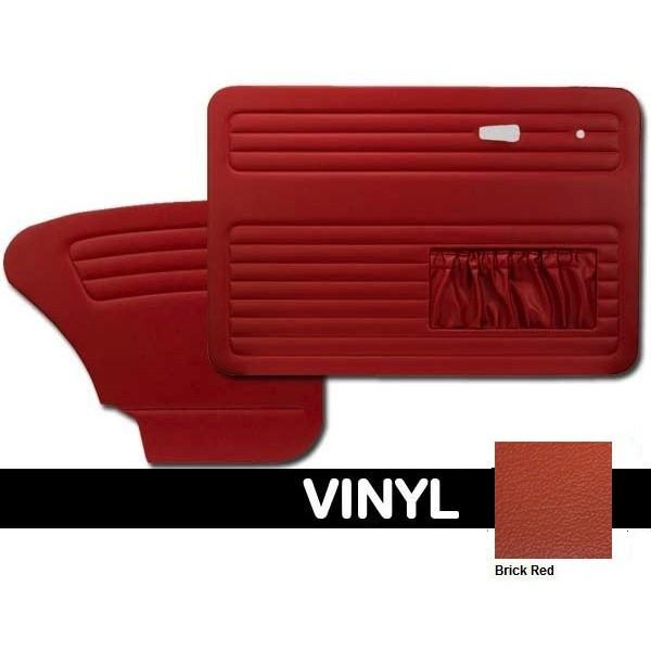 TMI OEM Classic Door Panels Bug 58-66 w/pockets Brick Red