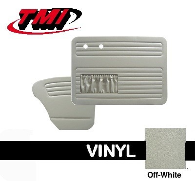 TMI OEM Classic Door Panels Bug 58-66 w/pockets Off White