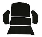 carpet kit 5 piece bug 73-77 rear well area black loop