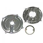 Alternator/Generator Backing Plate CHROME 3PC KIT