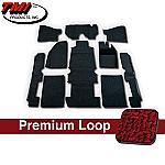 TMI Carpet Kit 10pc Bug 58-67 RHD Brick Red Premium Loop with binding