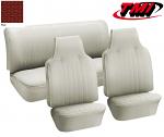 TMI VW Seat Upholstery, 1971-72 Bug, Front & rear, Basketweave Vinyl RED