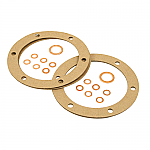Oil drain plate gasket set for strainer on bug style engines