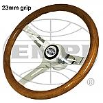 Classic Wood Steering Wheel 23 mm grip with Boss Kit Bug & Ghia  Type 2 & Type 3