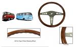 Kombi Type 2 Classic Wood Steering Wheel