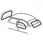 VW Beetle CAL RUBBER KIT 72-77,  72 Super, 4 PC
