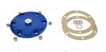 Alluminium Billet Oil Sump Plate with magnetic drain plug BLUE