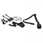 Seat belt 3 point black lap/chest retractable PAIR bug 68-79 or bus