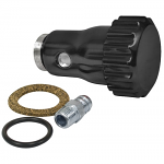 Oil filler powder-coated Black aluminum w/ Billet screw on cap - vented