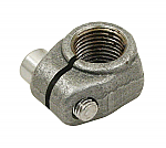 Spindle nut for ball joint spindle - clamp nut w/ screw LEFT SIDE