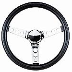 """VW Steering Wheel 13-1/2 - 3 1/2"""" Dish  Foam grip Chrome spoke"""