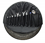 Spare tyre cover with built-in tool bag