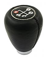 Shift knob black vinyl w/ 4 speed shift pattern