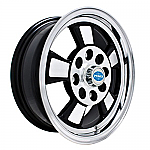 Riviera style 4x130, gloss black & polished alloy 15 x 5.5 (SET of 4)