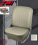 TMI VW Seat Upholstery, 1966-68 Bug, Front & Rear, Basketweave Vinyl Off White