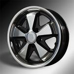 911 Porsche Fuchs style alloys Gloss BLACK W/Polished SILVER 5x130