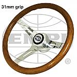 Classic Wood Steering Wheel 31mm grip with Boss Kit Bug & Ghia  Type 2 & Type 3