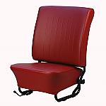 TMI VW Seat Upholstery, 1958-66 Bug, Front & Rear, Basketweave Vinyl RED