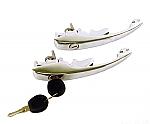 Door handle set keyed alike bug 68-79 ghia 68-74  PAIR